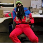 Certified Ski Technician in Halloween costume.