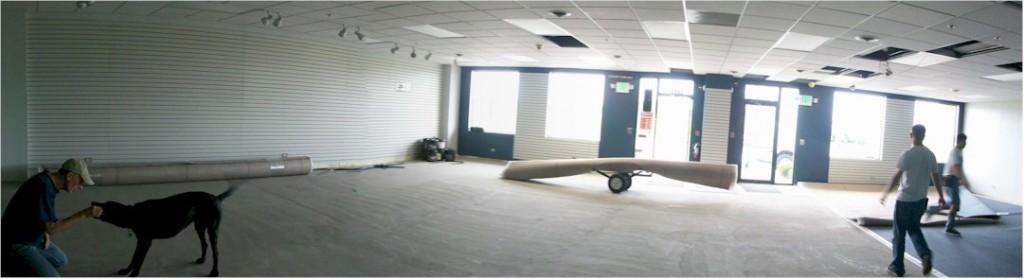 Ski shop gets new carpet