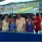 Alpine Accessories volunteers at the Chamber Corn Booth
