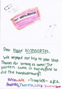 Girl Scount Thank You Card
