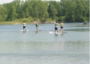 Paddleboarding at Paddle in the Park at the Hollows