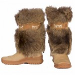 Real Fur Goat Hair Boots on Sale