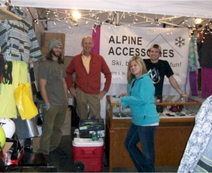 Sean, Rick, Ashley and Patrick staff the Alpine Accessories booth at the Windy City Ski and Snowboard Show 2012