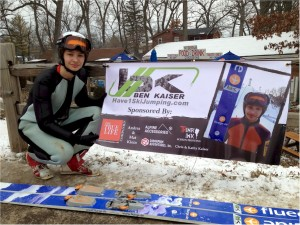 Ben Kaiser won 2nd place in the Junior Ski Jumping Competition