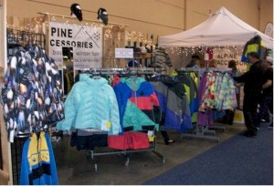 Alpine Accessories booth at the Windy City Ski and Snowboard Show 2012