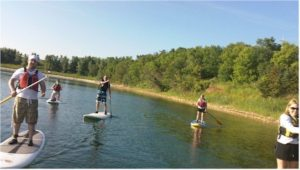 paddleboarding in crystal lake il