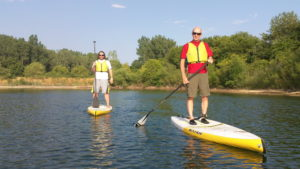 paddle boarding at the Hollows on Lake Atwood
