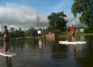 Paddleboarding on the Fox River
